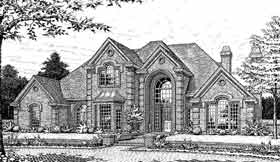 European , French Country House Plan 92248 with 4 Beds, 4 Baths, 3 Car Garage Elevation