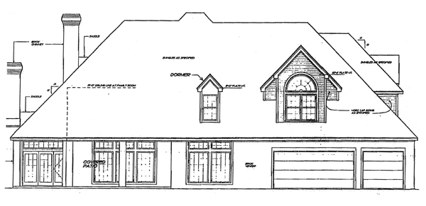 European, French Country House Plan 92248 with 4 Beds, 4 Baths, 3 Car Garage Rear Elevation