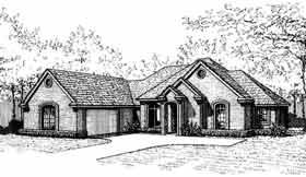 European Ranch House Plan 92254 Elevation