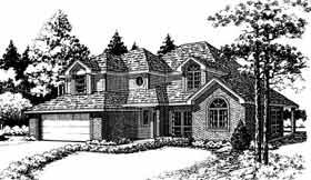 European Traditional House Plan 92255 Elevation