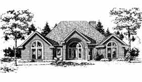 European House Plan 92257 Elevation