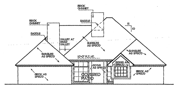 European House Plan 92257 Rear Elevation