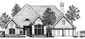 House Plan 92262 | European Style Plan with 2356 Sq Ft, 3 Bedrooms, 3 Bathrooms, 2 Car Garage Elevation