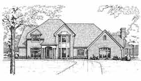 Colonial , European , French Country House Plan 92263 with 4 Beds, 4 Baths, 3 Car Garage Elevation
