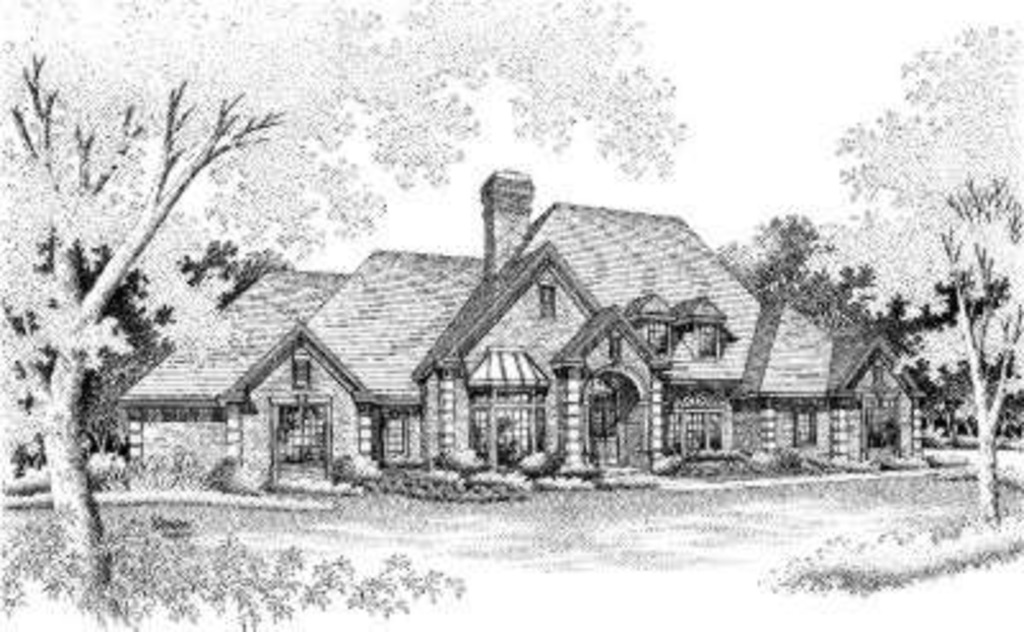 European House Plan 92265 with 4 Beds, 4 Baths, 3 Car Garage Elevation