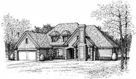 European House Plan 92269 Elevation
