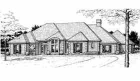 European House Plan 92271 with 4 Beds, 3 Baths Elevation