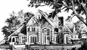 Traditional , French Country , Country House Plan 92274 with 4 Beds, 4 Baths, 3 Car Garage Elevation
