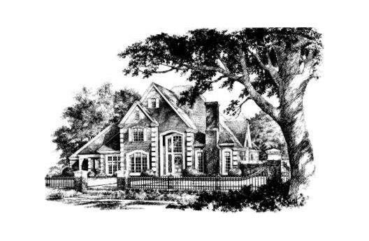 Country French Country Traditional Elevation of Plan 92274