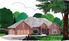 European House Plan 92275 Elevation