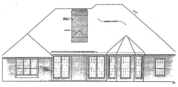 European House Plan 92275 Rear Elevation