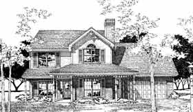 Country House Plan 92278 with 4 Beds, 3 Baths, 2 Car Garage Elevation