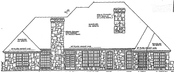 Bungalow European House Plan 92279 Rear Elevation