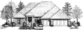 Colonial European House Plan 92280 Elevation