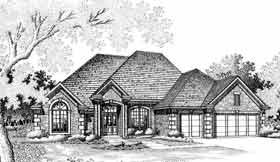 European House Plan 92282 Elevation