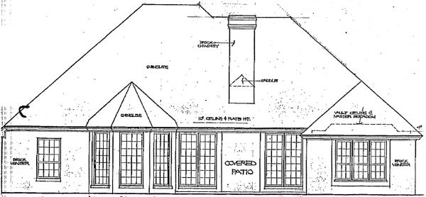 European House Plan 92282 Rear Elevation