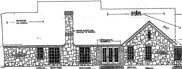 Cape Cod Country House Plan 92284 Rear Elevation