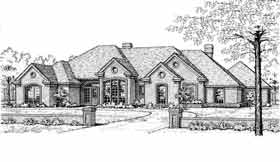 House Plan 92289 | European Style Plan with 2354 Sq Ft, 4 Bedrooms, 3 Bathrooms Elevation