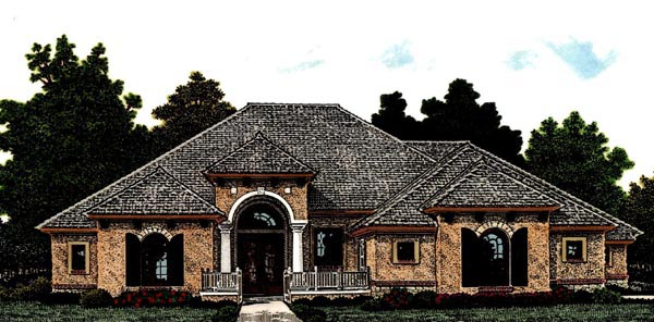 Country European House Plan 92295 Elevation