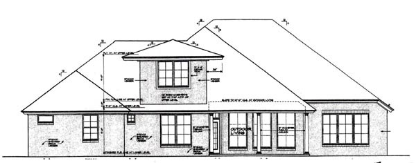 Country European House Plan 92295 Rear Elevation