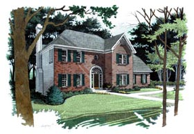 Traditional House Plan 92300 with 4 Beds, 3 Baths, 2 Car Garage Elevation
