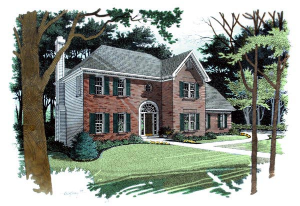 Traditional House Plan 92300 Elevation
