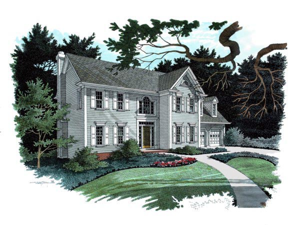 Traditional House Plan 92301 Elevation