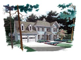European , Traditional House Plan 92304 with 3 Beds, 3 Baths, 2 Car Garage Elevation