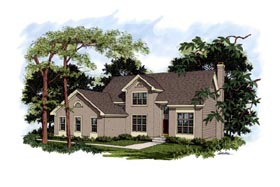 House Plan 92305 | Traditional Style House Plan with 2292 Sq Ft, 4 Bed, 3 Bath, 2 Car Garage Elevation