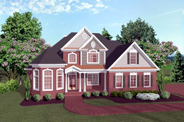 Traditional House Plan 92317 Elevation