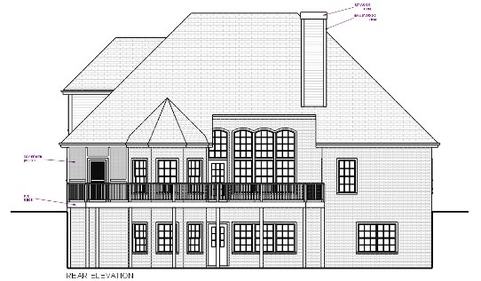 Traditional House Plan 92317 Rear Elevation