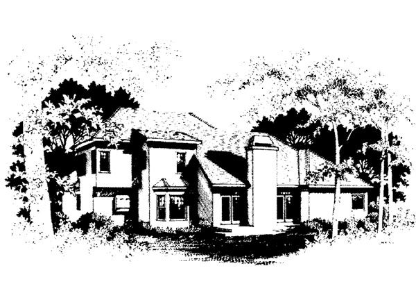 European Traditional House Plan 92320 Rear Elevation