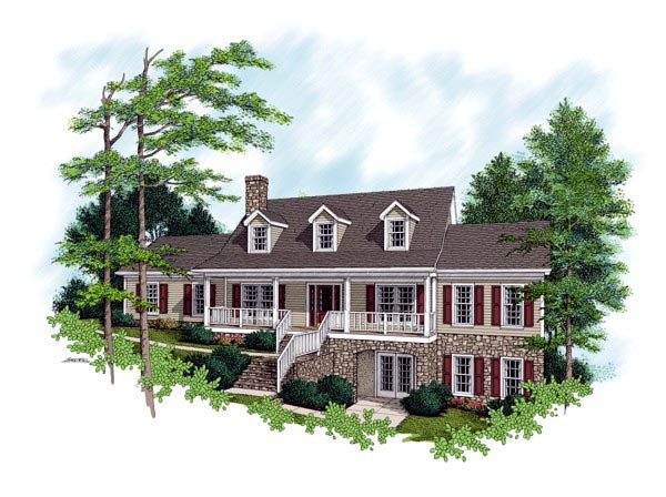 Country Traditional Elevation of Plan 92321