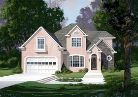 European Traditional House Plan 92323 Elevation