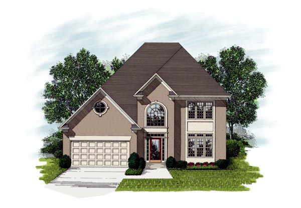 European House Plan 92328 Elevation