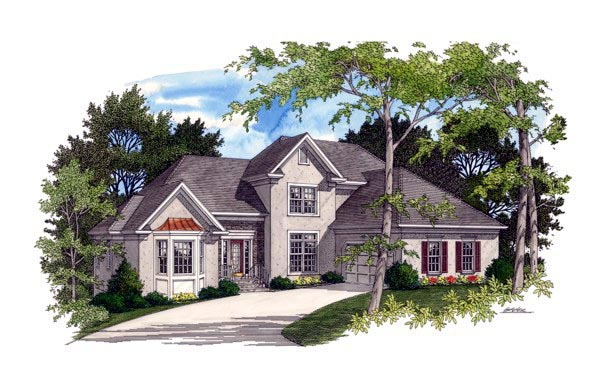 Traditional House Plan 92329 Elevation