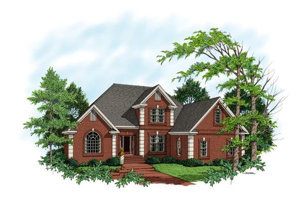 Traditional House Plan 92330 with 3 Beds, 4 Baths, 3 Car Garage Elevation