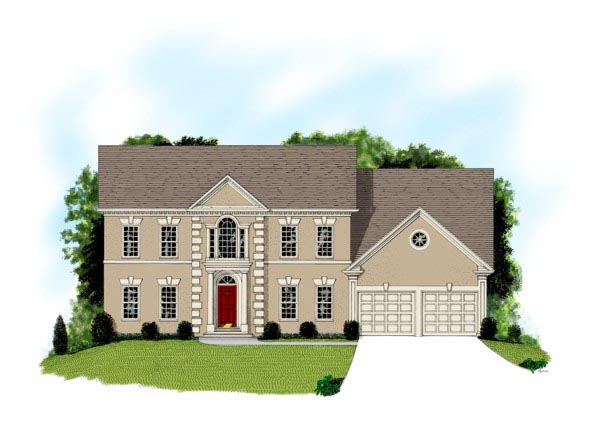 Colonial Traditional House Plan 92333 Elevation
