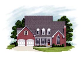 Country Traditional House Plan 92334 Elevation