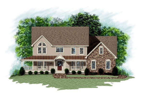 Farmhouse House Plan 92335 Elevation