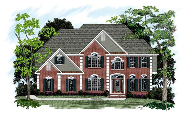 European Traditional House Plan 92336 Elevation