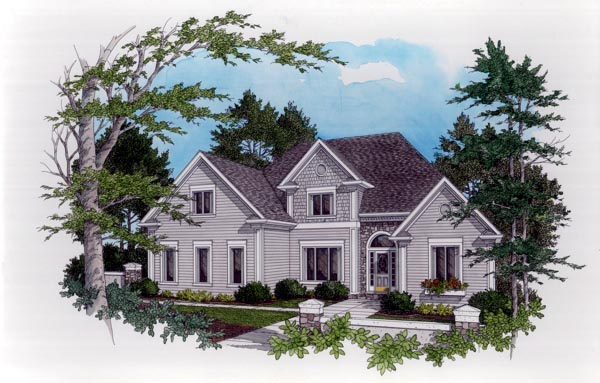 European Traditional House Plan 92337 Elevation