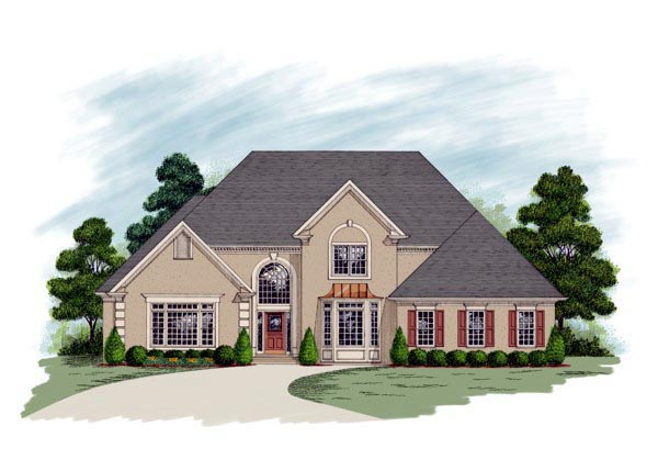 European House Plan 92340 Elevation