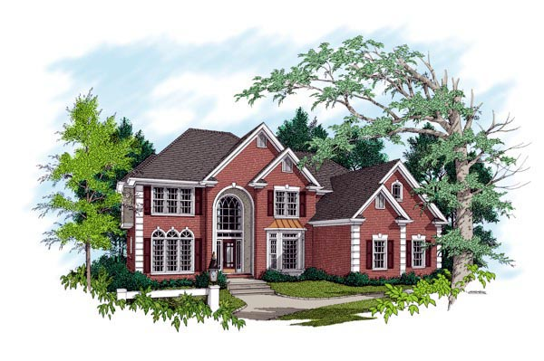 European Traditional House Plan 92344 Elevation