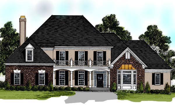 Traditional Tudor House Plan 92345 Elevation
