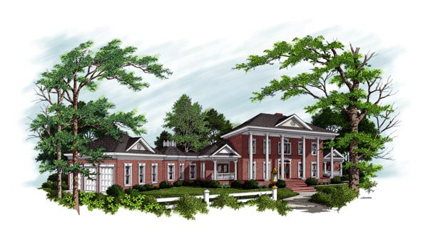 Colonial Traditional House Plan 92346 Elevation