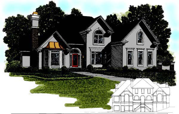 Traditional Tudor House Plan 92347 Elevation