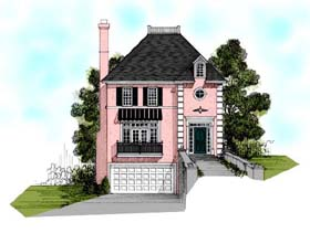 European Traditional House Plan 92349 Elevation