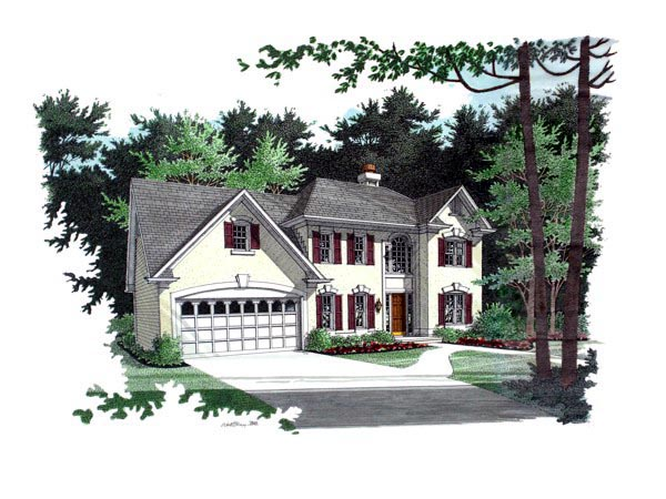 Traditional , Elevation of Plan 92358