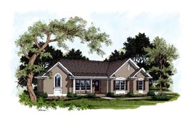 Traditional House Plan 92359 Elevation